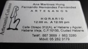 Crafts store in Havana Vieja
