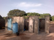 shower at hut_Burkina Faso