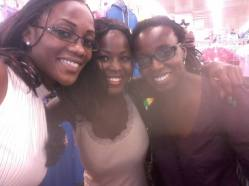 With my host and her frd