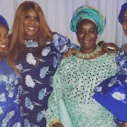 The woman (my mom) in green is wearing the Iro and Buba